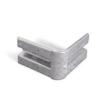 Eckstück 90° für Stahlschutzplanke (Inneneckstück)