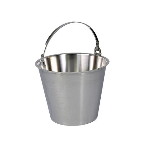 Edelstahl-Eimer 10 L, mit/ohne Bodenring