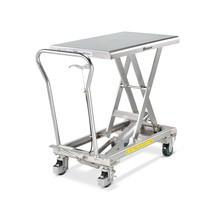 Edelstahl-Scheren-Hubtischwagen