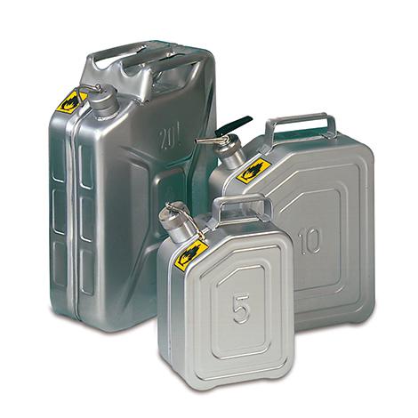 Edelstahl-Sicherheitskanister mit Zapfhahn, 5 Liter