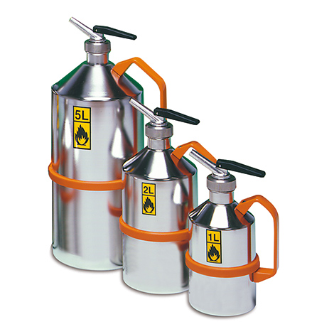 Edelstahl-Sicherheitskanne mit Feindosierer, 1 - 5 Liter