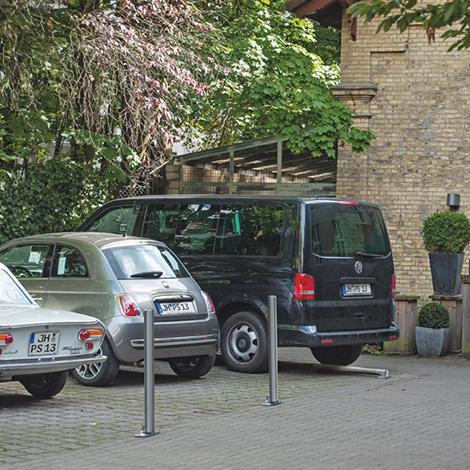 Edelstahlsperrpfosten, Rundkopf, Ø 102 mm