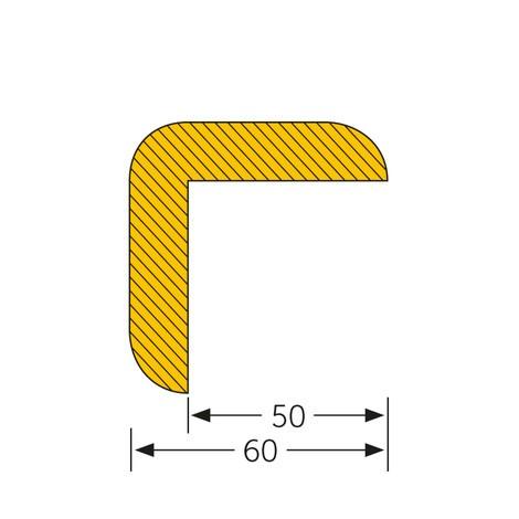 Edge protection angle, self-adhesive, pointed