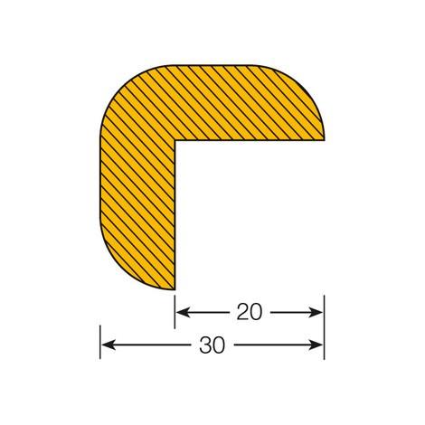 Edge protection angle, self-adhesive, semi-circular