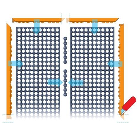 Edge strip for anti-fatigue mat in nitrile rubber
