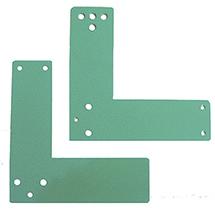 EH Türwächter-Montageplatte für Glasrahmentüren