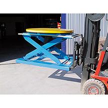 Einfahrtaschen Gabelstapler für Druckluft-Hubtisch Bishamon