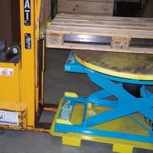 Einfahrtaschen Gabelstapler für Druckluft-Scheren-Hubtisch