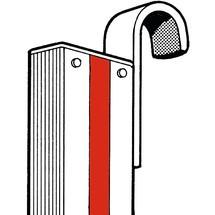 Einhängehaken für Stufen-Anlegeleiter HYMER® Premium