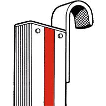 Einhängehaken für Stufen-Anlegeleiter HYMER ® Premium