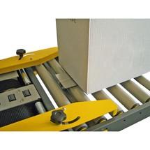 Einlaufrollenbahn mit Kartonhalteschwert für Kartonverschlußmaschinen