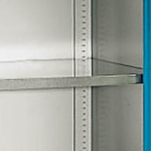 Einlegeböden (verzinkt) für Flügeltürenschränke mit Mitteltrennwand