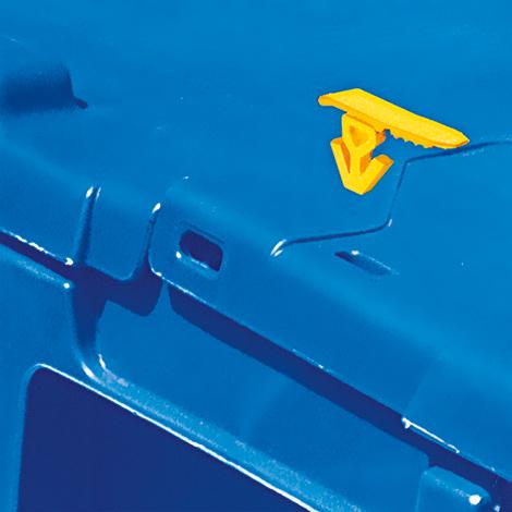 Einmal-Plomben für Mehrwegstapelbehälter, gelb