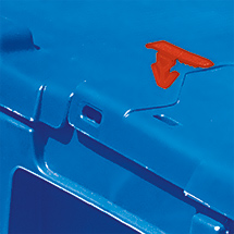 Einmal-Plomben für Mehrwegstapelbehälter, rot