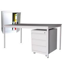 Einrichtungs-Set, Schreibtisch inkl. Rollcontainer + Beistellschrank