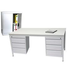 Einrichtungs-Set, Schreibtisch inkl. Unterbauschränke + Beistellschrank