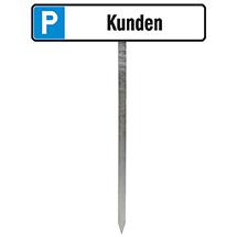 Einschlagpfosten für Parkplatz-Schilder 52x11cm