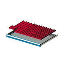 Einteilungsmaterial für Breite 1023mm, 24 Mulden, 31 Trennbleche