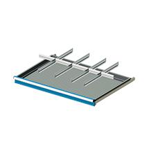 Einteilungsmaterial für Breite 1023mm, 4 Schlitzwände, 5 Trennbleche