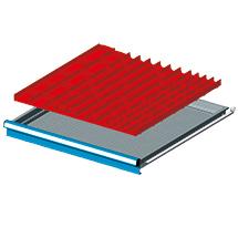 Einteilungsmaterial für Breite 726mm, 16 Mulden, 40 Trennbleche