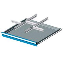 Einteilungsmaterial für Breite 726mm, 2 Schlitzwände, 3 Trennbleche