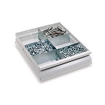 Einteilungssets für Schubladenschränke mit Gleitführung
