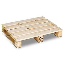 Einweg-Holzpalette. 4-Wege