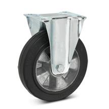 Elastik-Vollgummi-Bockrollen. Aluminiumfelge, Tragkraft 180 - 350 kg