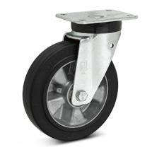 Elastik-Vollgummi-Lenkrollen Premium. Alufelge, Tragkraft 180 - 570 kg