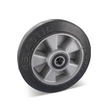 Elastik-Vollgummi-Räder. Alufelge, Tragkraft 100 - 570 kg