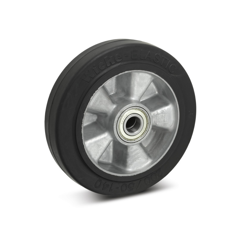 Elastik-Vollgummi-Räder. Aluminiumfelge, Tragkraft 180 - 350 kg