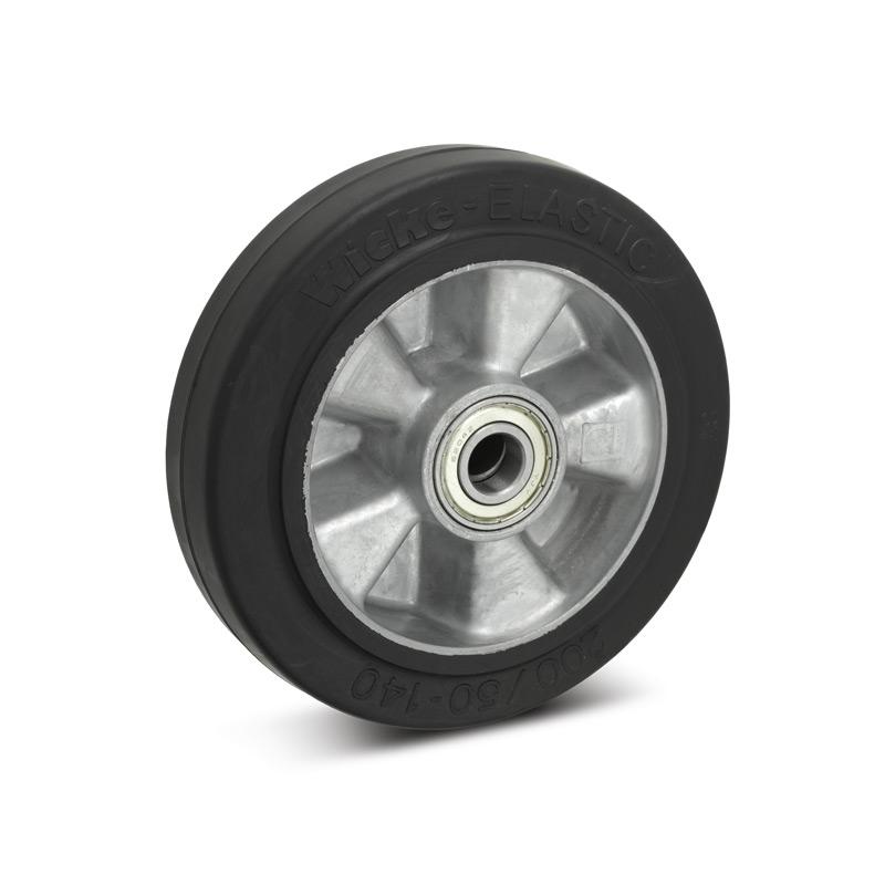 Elastik-Vollgummi-Räder Premium. Alufelge, Tragkraft 180 - 570 kg