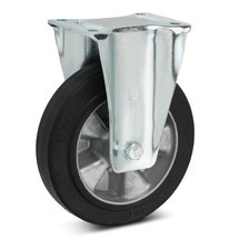 Elastische, volrubberen bokwielen Premium. Aluvelg, capaciteit 180 - 570 kg