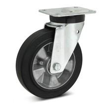 Elastische, volrubberen zwenkwielen Premium. Aluvelg, capaciteit 180 - 570 kg