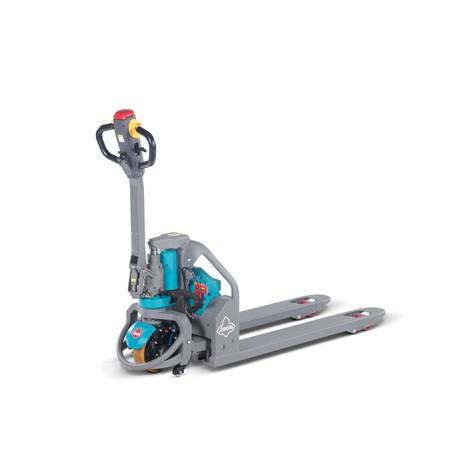 Elektrický paletový vozík Ameise® PTE 1.3 – lithium iontová technologie, extra šířka pro zvláštní palety