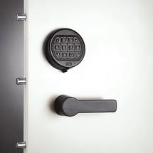 Elektrisch slot, zwart, voor brandkast met openslaande deuren