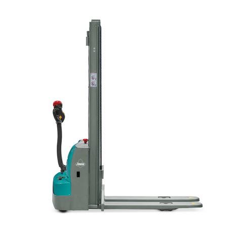 Elektrische stapelaar Ameise® PSE 1.0 met tweevoudige telescoop hefmast