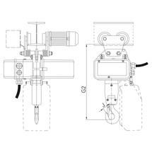 Elektrische takel met elektrische loopkat, (2 rijsnelheden)