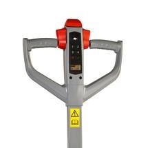 Elektrische handpompwagen Ameise® PTE 1.5 - lithium-ion, capaciteit 1.500 kg, speciale maat over de vorken 685 mm