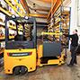 Elektro-Dreirad-Gabelstapler Jungheinrich EFG gebraucht. Tragkraft bis 2000 kg
