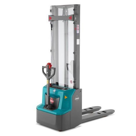 Elektro-Stapler Ameise® PSE 1.2 - Lithium-Ionen, Zweifach-Teleskop-Hubgerüst mit Initialhub