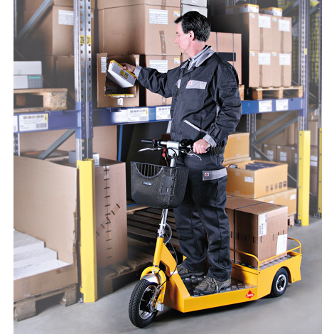 Elektro-Transportroller Ameise ® 2000 mit Lastplattform