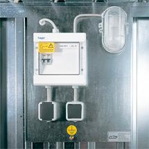 Elektroinstallationspaket für Großraum-/Umweltcontainer