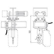 Elektrokettenzug AMEISE mit Elektrofahrwerk (2 Geschwindigkeiten)