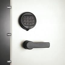 Elektroschloss in schwarz für Sicherheits-Flügeltürenschrank