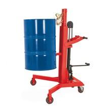Elevador de bidones con elevación con pedal
