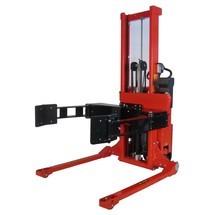 elevador de rolos elétrico, totalmente elétrico, giratório, assento de bobina ajustável