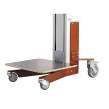 Elevador HOVMAND con plataforma de madera, capacidad de carga 70 kg
