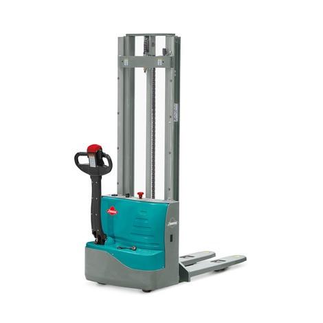 Empilhador elétrico Ameise® PSE 1.0 com mastro de elevação telescópico duplo