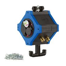 Energie- und Druckluftverteiler mit 6 Schuko-Ausgängen + 2 Druckluftausgängen
